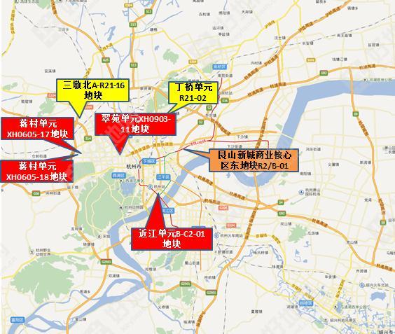 杭州八区 含大江东 11月推地14宗,总起价132亿